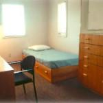 A dorm suite bedroom
