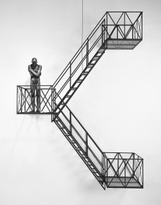 David Robinson. By Any Means, 1993. Bronze, aluminum, steel. 107 x 24 inches. Photo: Ken Mayer.