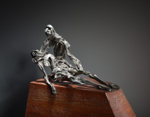 PLATE 5. David Robinson. Pietà, 2015. Bronze, limestone. 15 x 16¼ x 8¼ inches. Photo: Sage MacGillivray.