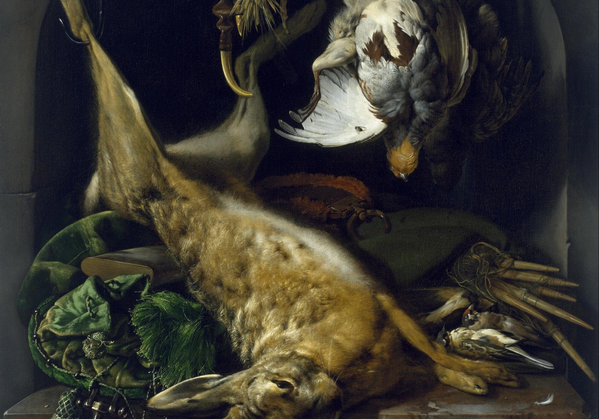Jan_Weenix_-_Still_Life_of_a_Dead_Hare,_Partridges,_and_Other_Birds_in_a_Niche_-_Google_Art_Project
