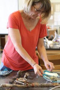 Glen Workshop Aubrey Allison making art