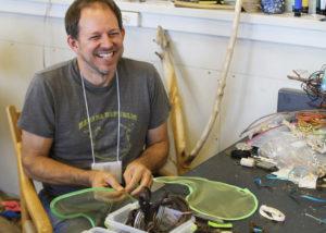 Glen Workshop Aubrey Allison man laughing