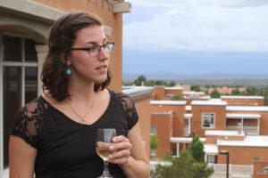Glen Workshop Aubrey Allison woman with wine