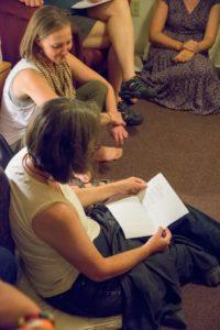 Glen Workshop Bob Denst Anne reading