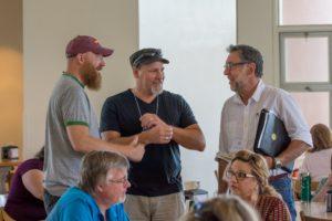 Glen Workshop Bob Denst cafeteria chat