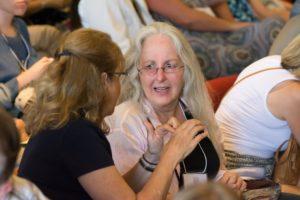 Glen Workshop Bob Denst two woman talking