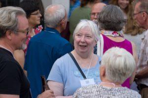 Glen Workshop Bob Denst woman at reception