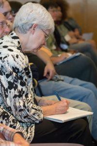 Glen Workshop Bob Denst woman writing