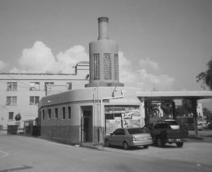 old art deco gas station in little havens.