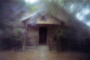blurry image of a house
