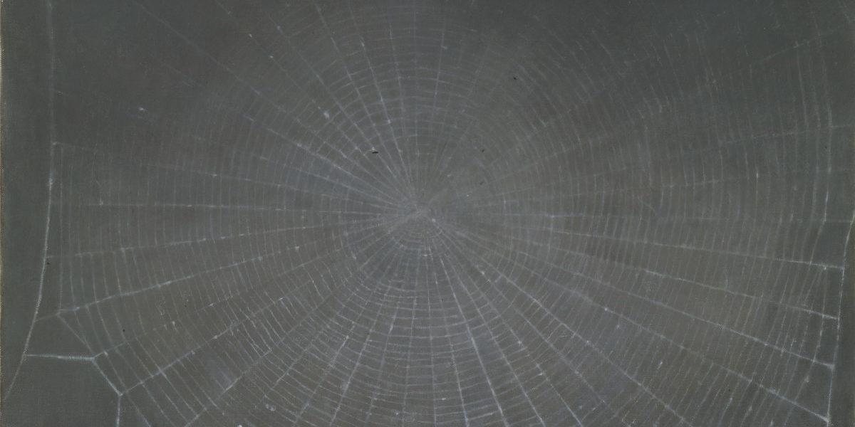 Vija Celmins. Web, 1992. Oil on canvas. 18 ¾ x 22 inches.